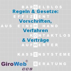 GiroWeb GV Glossar & Lexikon: Regeln & Gesetze | Vorschriften - Verfahren - Verträge