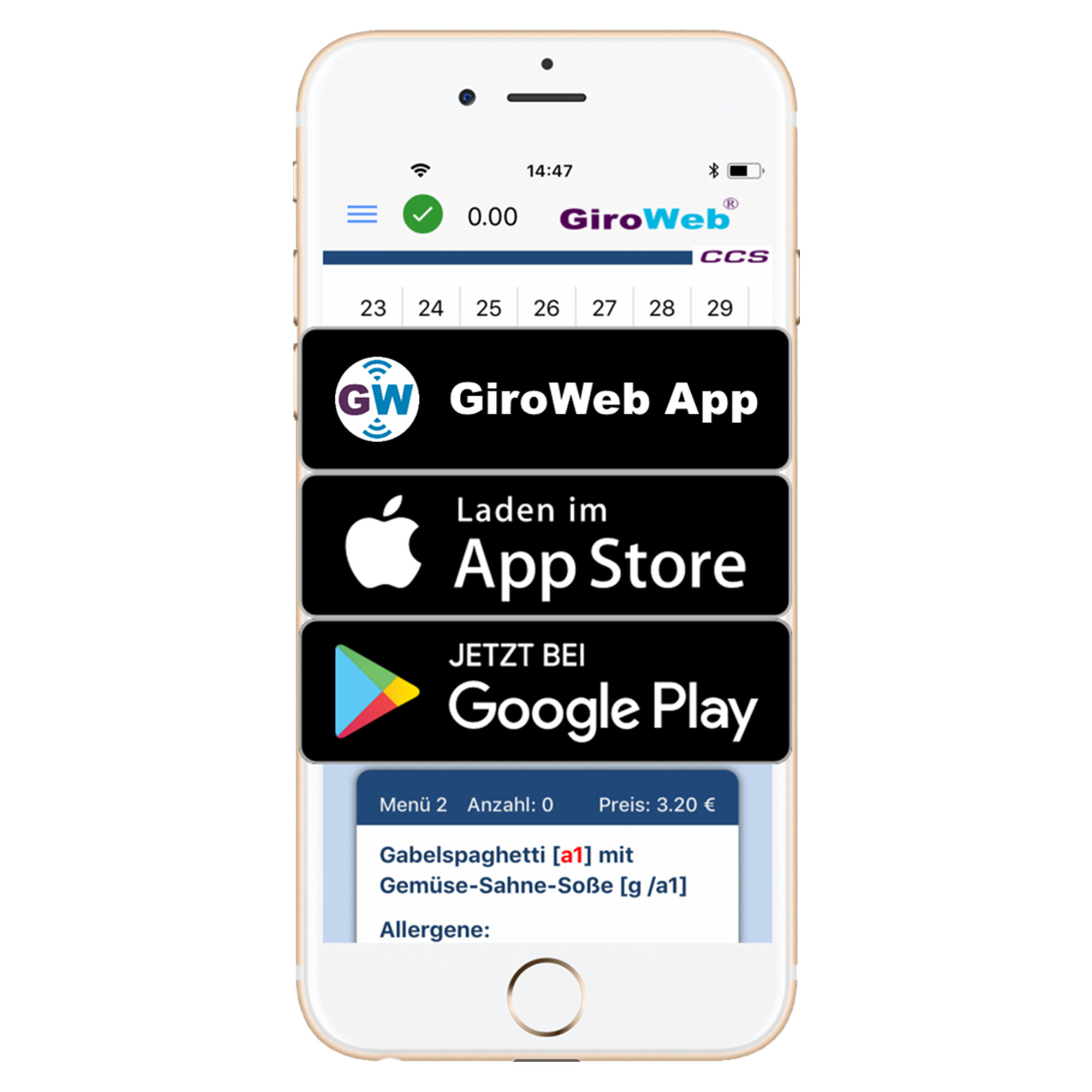 GiroWeb and App: education catering