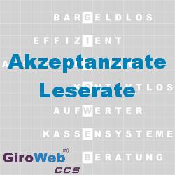 GiroWeb FAQ für Gemeinschaftsverpflegung (GV) & Catering: Was ist eine Akzeptanzrate? Was ist eine Leserate?