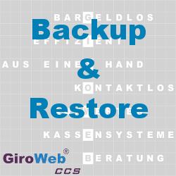 GiroWeb FAQ für Gemeinschaftsverpflegung (GV) & Catering: Was ist Backup & Restore?