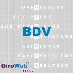 GiroWeb FAQ für Gemeinschaftsverpflegung (GV) & Catering: Was ist der BDV?