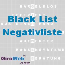 GiroWeb FAQ für Gemeinschaftsverpflegung (GV) & Catering: Was ist eine Black-List?
