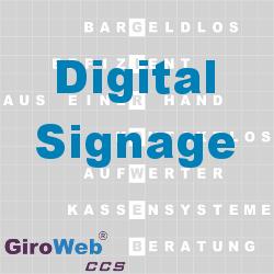 GiroWeb FAQ für Gemeinschaftsverpflegung (GV) & Catering: Was ist Digital Signage?