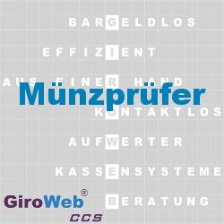 GiroWeb FAQ für Gemeinschaftsverpflegung (GV) & Catering: Was ist ein Münzprüfer?