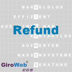 GiroWeb FAQ für Gemeinschaftsverpflegung (GV) & Catering: Was ist ein Refund?