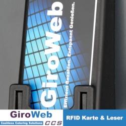 GiroWeb Karte im RFID-Leser für Aufwerter und Automaten