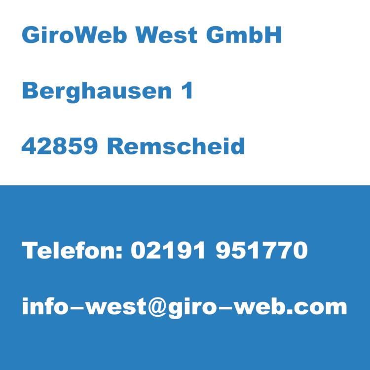 Firma GiroWeb West GmbH in Remscheid, Nordrhein-Westfalen | Kontakt-Daten für Termin-Anfragen