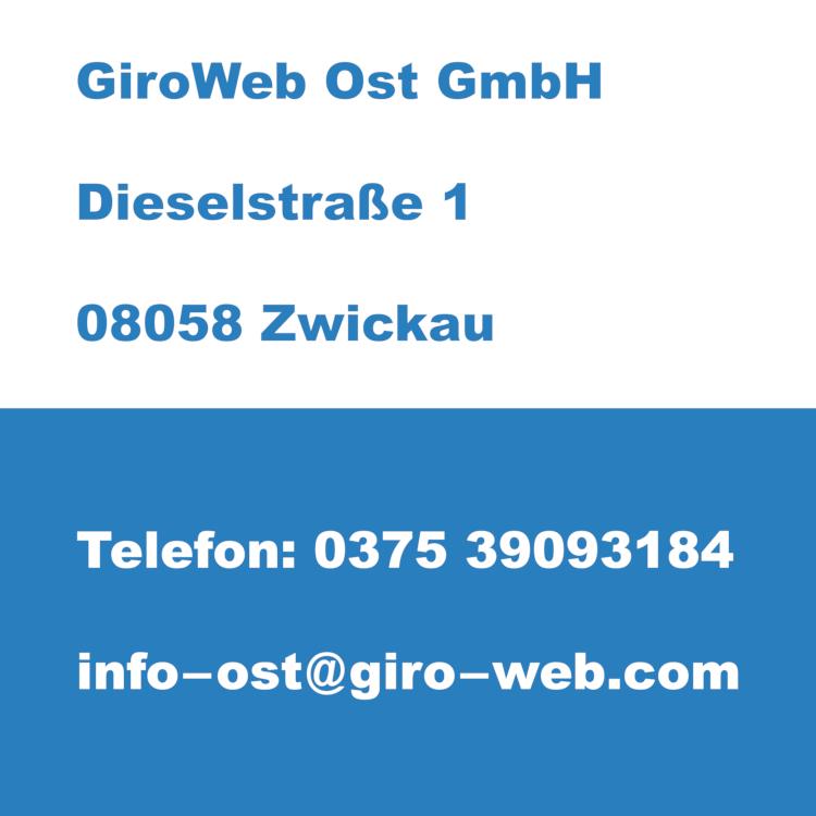 Firma GiroWeb Ost GmbH in Zwickau, Sachsen | Kontakt-Daten für Termin-Anfragen