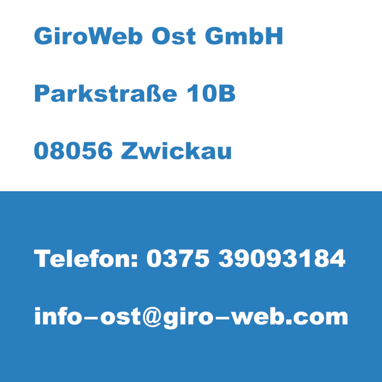 Firma GiroWeb Ost GmbH, Zwickau, Sachsen