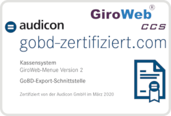 GiroWeb GoBD-Zertifizierung Audicon