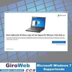 Windows 7: Support-Ende für Betriebssystem von Microsoft